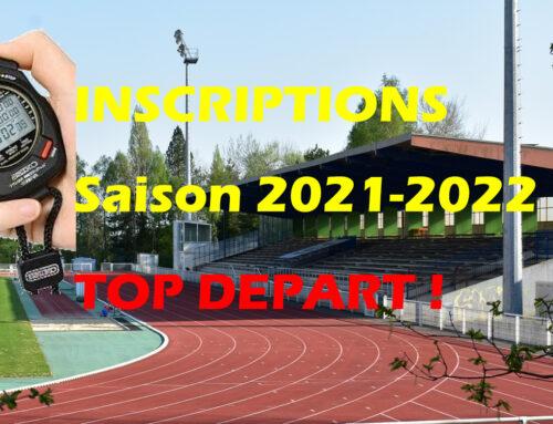 Saison 2021 / 2022 – Inscriptions